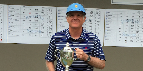Walter Todd after his victory at the Jones Cup Senior Invitational <br>(Photo Courtesy of Walter Todd)