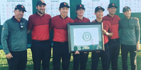 The victorious USC golf team <br>(USC Athletics Photo)