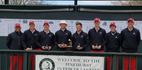 Ball State after their Pinehurst Intercollegiate title <br>(Ball State Athletics Photo)
