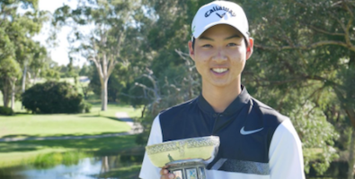 Min Woo Lee after his Western Australia Amateur victory <br>(Golf West Australia Photo)
