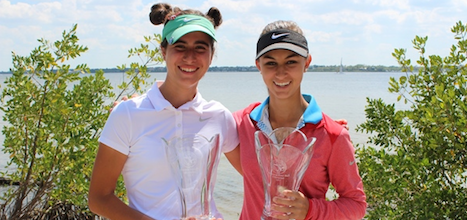 Florida Women's Four-Ball winners Elle Nachmann and Dana Williams <br>(FSGA Photo)