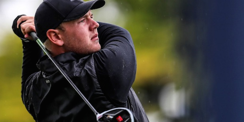 First round leader Mark Hutson <br>(New Zealand Golf Photo)