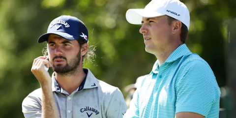 Curtis Luck (L) played with Jordan Spieth (R) at the 2016 Australian Open <br>(Golf Australia Photo)