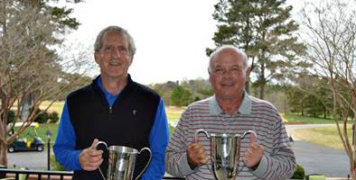 Russ Perry (L) and Mark Stephens claim the <br>inaugural North Carolina Super Senior Four-Ball Championship <br>(CGA Photo)