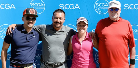Flight winners from L-R: Donovan Koah, Carmelo Valdivia, <br>Kyle Fraser and Dennis Campbell <br>(SCGA Photo)
