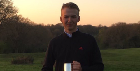 Charlie Thornton after his win at The Berkhamsted Trophy <br>(Twitter Photo)