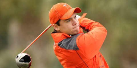 Oklahoma State's Viktor Hovland is tied for second <br>(Golfweek Photo)