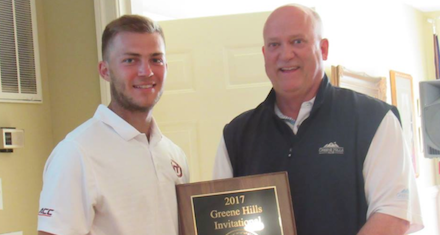 Two-time defending champion Logan Yates <br>(The Greene Hills Club Photo)