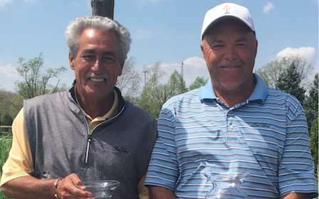 Bob Stephens and Ron Carter after their Indiana Senior Team title <br>(IGA Photo)