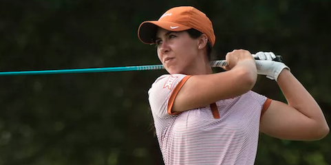 Sophia Schubert of Texas shared fifth <br>(Texas Athletics Photo)