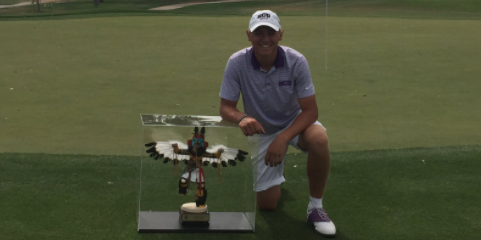 Arizona Stroke Play winner Jake Chanen <br>(GCU Athletics Photo)