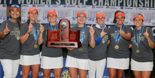 Florida won their 9th SEC title on Sunday <br>(Florida Athletics Photo)
