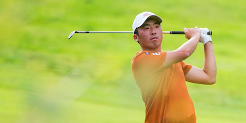 Doug Ghim lifted Texas to the title with his 18th hole birdie <br>(Texas Athletics Photo)