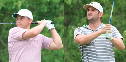 36-hole co-leaders Joseph Deraney (L) and Justin Kaplan (R) <br>(Carlton Woods Invitational Photo)
