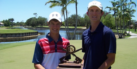 First time FSGA winners Luke Farmer and Shane Reynolds <br>(FSGA Photo)