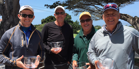L-R Gary Beene and Del Masters Net Champs; <br>Frank Pieper and Jeff Britton Senior winners <br>(AmateurGolf.com Photo)