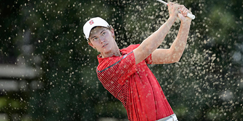 Maverick McNealy co-leads after a 65<br>(Stanford Athletics photo)