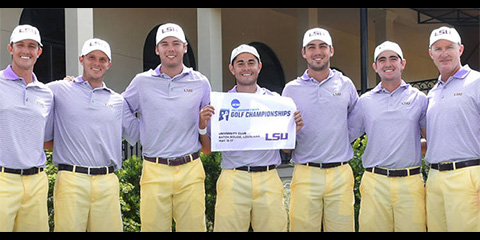 LSU used their home course advantage to win the Southeast Regional<br>(LSU photo)