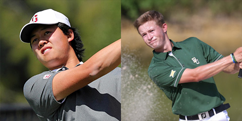 Brandon Wu of Stanford and Cooper Dossey of Baylor led their teams to a co-championship<br>(Stanford and Baylor photos)