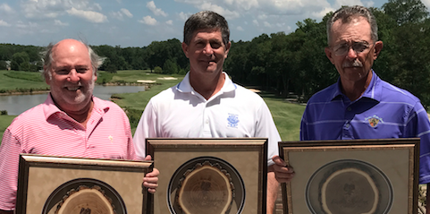 L-R  Don Russell (Super Senior Division Champion), <br>Donny Phillips (Senior Division Champion) <br>and Don Kuehn (Legends Division Champion) <br>(Photo Courtesy of Mark Hall)