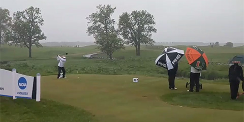 Cold + wind + rain = high scores at the NCAA Women's Championship