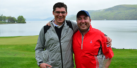 Jeff Wolniewicz and Jonathan Clark, the New York Four-Ball champions<br>(NYSGA photo)
