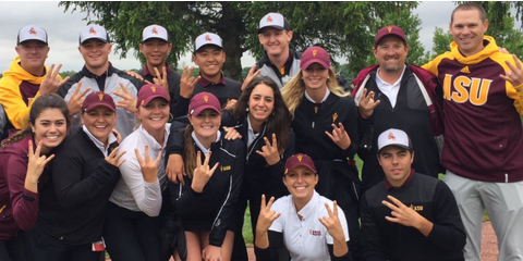 ASU men's and women's teams pose<br>(Photo: ASU men's golf coach Matt Thurmond)