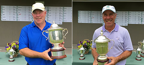 Senior Champ Chris Hall (left) with Super-Senior winner Neil Spitalny