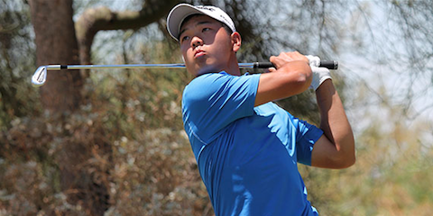 Kaiwen Liu during second round play <br>(AJGA Photo)