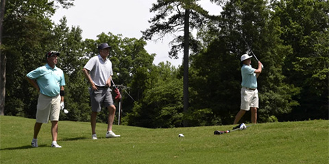 Play is underway at the Chanticleer Senior Invitational