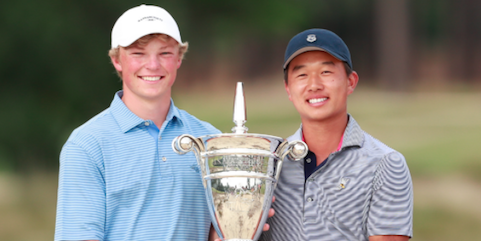 Frankie Capan (L) and Shuai Ming (Ben) Wong (R) <br>(USGA Photo)