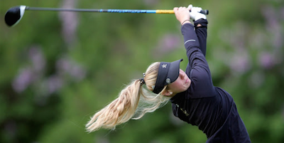 Second round co-leader Alexandra Farnsworth <br>(MN Golf Association Photo)