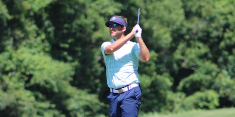 Derek Busby holds the 54-hole lead <br>(LGA Photo)