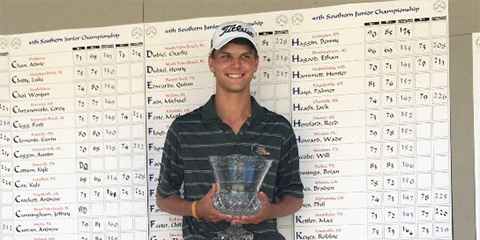 Ethan Hagood, the 2017 Southern Junior Champion<br>(Southern Golf Association photo)