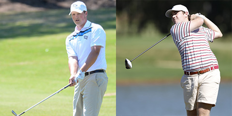 Dillon Woods (L) and Jonathan Hardee (R)<br>(UNF and UA photos)