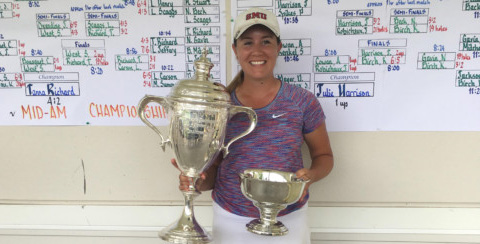 Lindsey McCurdy, the 2017 Women's Southern Amateur champion<br>(WSGA photo)