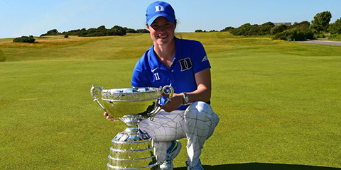 Leona Maguire, the 2017 Ladies British Open Amateur champion<br>(R&A photo)