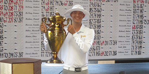Jino Sohn won his first major amateur event at the Southwestern Am<br>(SWGA photo)