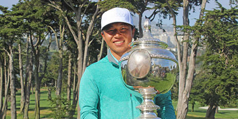67 on the Ocean Course and 70 on the Lake = medalist honors for Eddy Lai<br>(NCGA photo)
