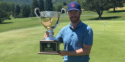 Dan Horner, the 2017 Utah Mid-Amateur champion<br>(UGA photo)