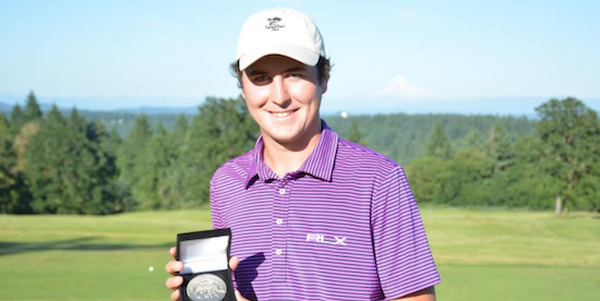Men's Division medalist Cole Madey <br>(OGA Photo)
