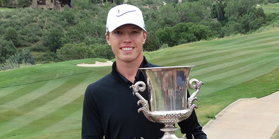 Chris Korte adds the Stroke Play to the Amateur title he won two years ago (CGA photo)