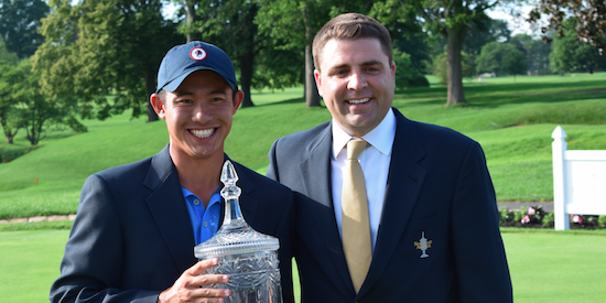 Winner Collin Morikawa <br>(AmateurGolf.com Photo)
