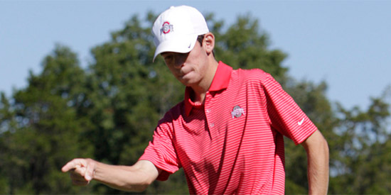 Will Grimmer used six straight birdies to take the lead after round one<br>(Ohio State photo)