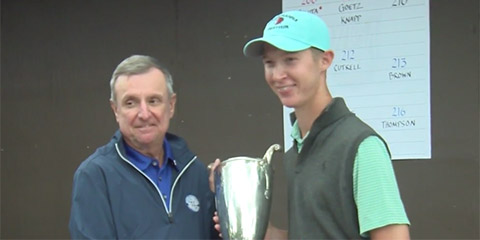 Matt Holuta won his first major amateur title at Sunnehanna CC