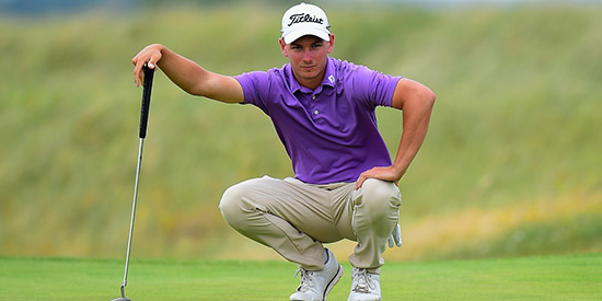Can Australia's Dylan Perry rebound from his British Amateur disappointment to win<br>the European Amateur? He is the co-leader with two rounds to play. (R&A photo)