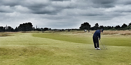 Battling the weather and the field, Connor Syme punched his ticket to Royal Birkdale<br>(Bunkered Golf photo)