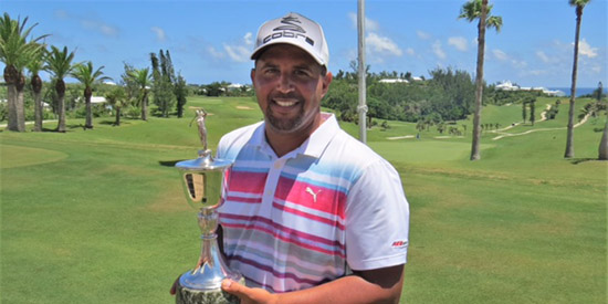 Jarryd Dillas adds the Stroke Play title at Port Royal to his Match Play win at Mid Ocean<br>(Royal Gazette photo)