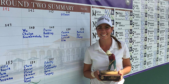 Kristen Gillman is in good position to defend her North & South title<br>(Pinehurst photo)