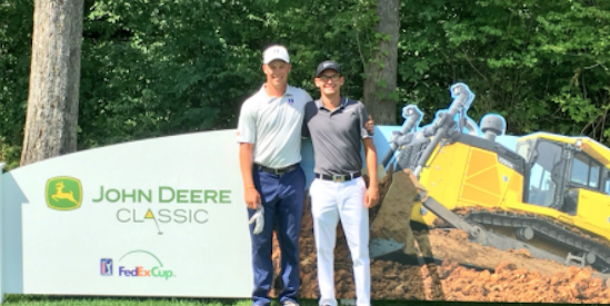 Nick Hardy (L) and Dylan Meyer (R) are ready for the John Deere Classic <br>(Illinois Athletics Photo)